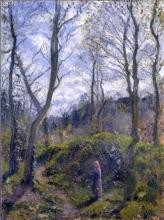 Camille Pissarro, Paesaggio forestale. Primavera | Paysage forestier. Printemps | Forest landscape. Spring