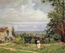 Pissarro Camille, Paesaggio vicino di Louveciennes.jpg