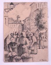 Pissarro Camille, Piazza del mercato a Pontoise.png