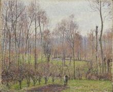 Pissarro Camille, Pioppi, tempo grigio, Eragny | Peupliers, temps gris, Éragny | Poplars, gray weather, Éragny