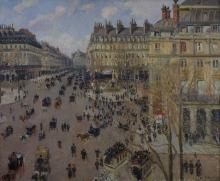 Pissarro Camille, Place du Theatre Français, effetto di sole.jpg
