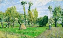Pissarro Camille, Prati del Valhermeil nei pressi di Pontoise | Prairies du Valhermeil près Pontoise | Meadows of Valhermeil near Pontoise