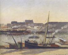 Pissarro Camille, Quai de la Bourse, Rouen, pomeriggio | Quai de la Bourse, Rouen, après-midi | Quai de la Bourse, Rouen, afternoon
