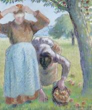 Pissarro Camille, Raccoglitrici di mele.jpg
