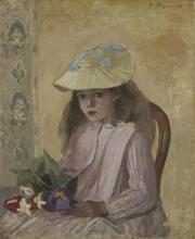 Pissarro Camille, Ritratto della figlia dell'artista.png