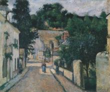 Pissarro Camille, Rue de L'Hermitage a Pontoise | Rue de L'Hermitage à Pontoise | Rue de L'Hermitage in Pontoise