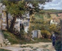 Pissarro Camille, Strada all'Hermitage   Chemin à L'Hermitage   Path to L'Hermitage   Camino del Hermitage