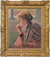Pissarro Camille, Testa di ragazza di profilo detta la Rosa [cornice].jpg