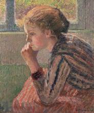 Pissarro Camille, Testa di ragazza di profilo detta la Rosa.jpg