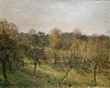 Camille Pissarro, Tramonto a Éragny sur Epte, autunno | Sunset at Éragny-sur-Epte, autumn