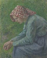 Pissarro Camille, Una contadina seduta.png