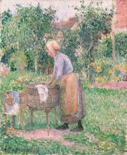 Pissarro Camille, Una donna che lava i panni a Eragny.jpg