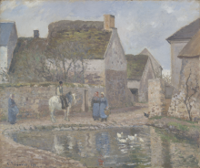 Pissarro Camille, Uno stagno a Ennery | Un étang à Ennery | A pond at Ennery