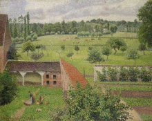Camille Pissarro, Veduta dalla mia finestra, Éragny sur Epte | View from my window, Éragny-sur-Epte
