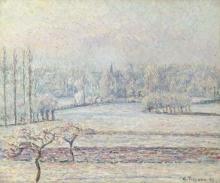Pissarro Camille, Veduta di Bazincourt, brina, mattina.jpg
