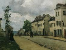 Pissarro Camille, Via di Pontoise | Straße in Pontoise | Rue à Pontoise | Street in Pontoise