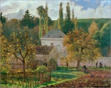 Pissarro Camille, Villa all'Hermitage, Pontoise | Villa à l'Hermitage, Pontoise | Villa at the Hermitage, Pontoise | Landhaus in der Hermitage, Pontoise