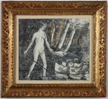 Pissarro camille, Bagnante con oche.jpg