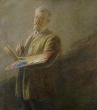 Gaetano Previati, Autoritratto   Self portrait [1900 circa]