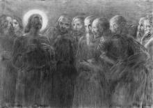 Gaetano Previati, Cristo e gli apostoli