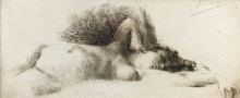 Gaetano Previati, Donna nuda distesa