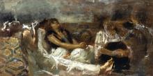 Gaetano Previati, Fumatrici di oppio [bozzetto]