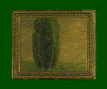Gaetano Previati, I tre cipressi