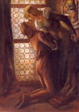 Gaetano Previati, Il bacio | The kiss