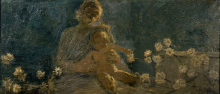 Gaetano Previati, La Madonna dei crisantemi
