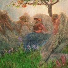 Gaetano Previati, Maternità | Maternity [1890-1891] [dettaglio | detail]