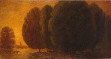 Gaetano Previati, Paesaggio con mucche | Landscape with cows