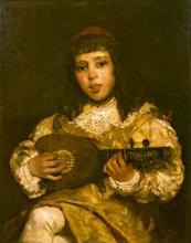 Gaetano Previati, Paggetto con mandolino