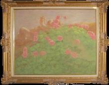 Gaetano Previati, Putto tra i fiori