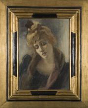 Gaetano Previati, Ritratto di donna