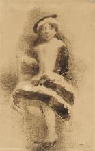 Gaetano Previati, Ritratto di scolaretta