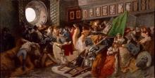 Gaetano Previati, Sacco di Capua | Plundering of Capua