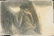 Gaetano Previati, Studio di angelo a mezza figura