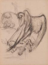 Gaetano Previati, Studio per figura d'angelo inginocchiato davanti alla madre con bambino