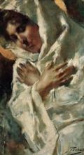 Gaetano Previati, Un momento di meditazione