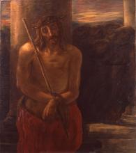 Gaetano Previati, Via Crucis, I stazione: Gesù coronato di spine (Ecce Homo)