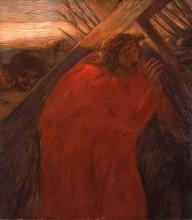 Gaetano Previati, Via Crucis, II stazione: Gesù caricato della Croce