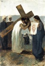 Gaetano Previati, Via Crucis, VI stazione: Il velo della Veronica