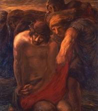 Gaetano Previati, Via Crucis, X stazione: Gesù spogliato