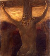 Gaetano Previati, Via Crucis, XII stazione: Crocifissione