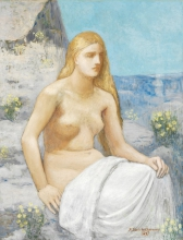 Pierre Puvis de Chavannes, Maria Maddalena | Marie Madeleine | Mary Magdalene
