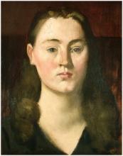 Pierre Puvis de Chavannes, Ritratto della Baronessa Lefèvre | Portrait de la Baronne Lefèvre | Portrait of the Baroness Lefèvre | Retrato de la Baronesa Lefèvre