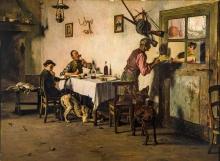 Giovanni Battista Quadrone, La refezione dei cacciatori