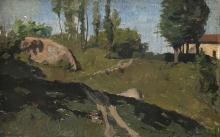 Giovanni Battista Quadrone, Paesaggio collinare con cascina sullo sfondo