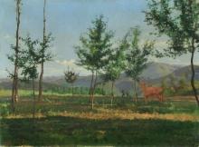 Giovanni Battista Quadrone, Paesaggio presso Mondovì