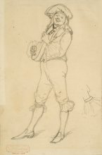 Giovanni Battista Quadrone, Personaggio in costume con mandolino